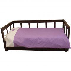 Bettbezug violett/weißes Herz
