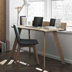 Loft 126cm Schreibtisch - Eiche/schwarz