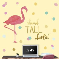 Wandaufkleber Flamingo Stand hoch