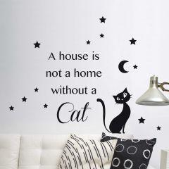 Wandaufkleber Katze