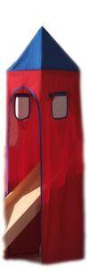 Turmzelt - blau/rot