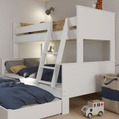 Family Bunk bed ALBA 636 - Family Bunk Bed - EXTRA WHITE