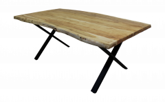 Esstisch SoHo - 220x100 cm - Akazie / Eisen