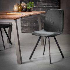 Set mit 4 Stühlen Valentina - schwarz