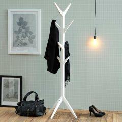 Ascot coat hanger - white