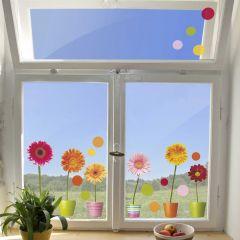 Fensteraufkleber Gerberas