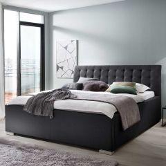Gedempt bed La Finca BK - 160x200 cm - zwart