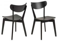 Roxby dining chair - black, black - set of 2