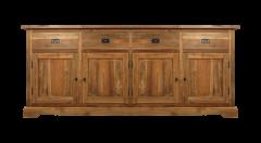 Sideboard 4-türig - antik - teakfarben