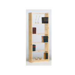 Bookcase AXEL 141 - Bookcase with 4 shelves - NATURAL LACQUER