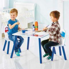 Kindertisch mit Stühlen Fahrzeuge