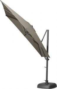 Schwimmender Sonnenschirm Siesta 300x300cm - Anthrazit/Band