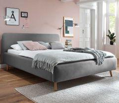 Gestoffeerd bed Mattis - 140x200 cm - Lichtgrijs