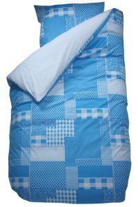Bettbezug Patchwork Aqua