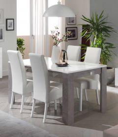 Greta Beton/weiss Tisch 160cm