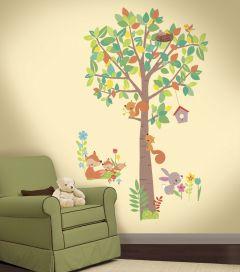 Wandaufkleber Wald Kreaturen Baum