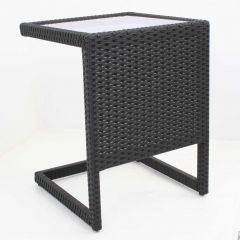 Sunshine sidetable black  met glasplaat Zwart