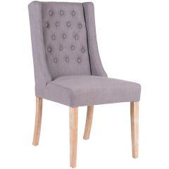 Set mit 2 Stühlen Brandon - grau