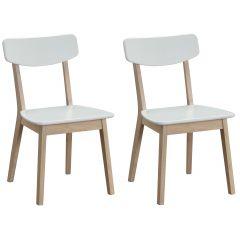 Set mit 2 Stühlen Anso - weiß