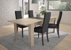 ALBIN - Table rectangulaire 1 allonge Chêne Krönberg clair