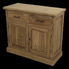 Sideboard - 2-türig - halb rustikal - teakfarben