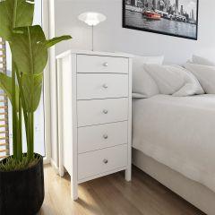 Dresser TROMSÖ 005 - Dresser with 5 drawers - WHITE
