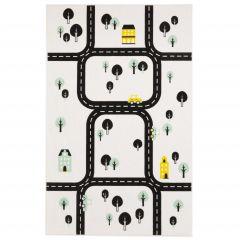 Teppich Ringstraße - weiß