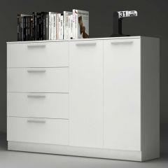 Chest 4 drawers 2 doors