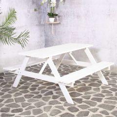 Remia Picknick Table White 150cm FSC 100%