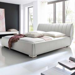 Gestoffeerd bed Bern - 200x200 cm - Wit