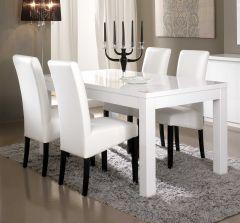 Roma Weiss Tisch 160