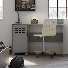 Desk LOKE 080 - Desk with 1 door - GREY