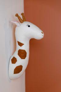 Filz Giraffe Kopf Wand Dekoration