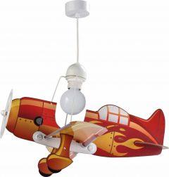 Hängelampe Flugzeug rot