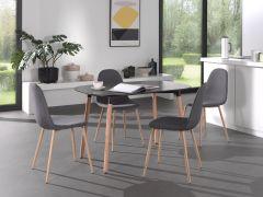 Tisch 'Evi' 140x80 Schwarz matt