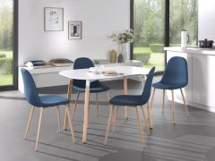 Tisch 'Evi' 140x80 Weiß matt