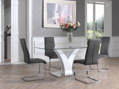 Tisch Ela 160x80 - Hochglanzweiß