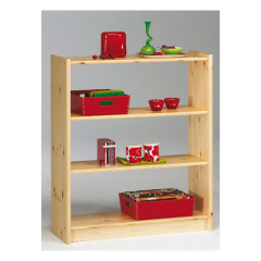 Bookcase AXEL 144 - Bookcase with 2 shelves - NATURAL LACQUER