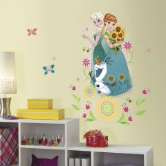 Roommates Wandtattoo - Elsa, Anna & Olaf