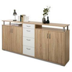 Sideboard Maximo 208cm - sonoma Eiche/weiß
