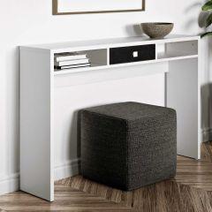 Seitentisch Pure - weiß/schwarz
