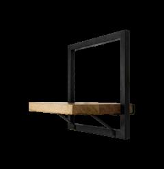 Wandregal Ebenen - 32x32 cm - Mangoholz / Eisen