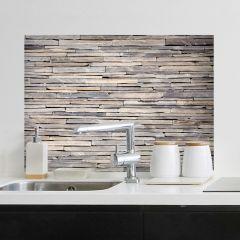 Wandaufkleber Steine Rückwand Küche