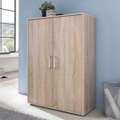 Serie Maxi-Office, Schrank breit mit 2 Türen, 110,5 cm hoch - Sonoma Eiche Dekor