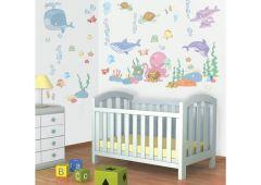 Wandsticker Baby Fische unter dem Meer