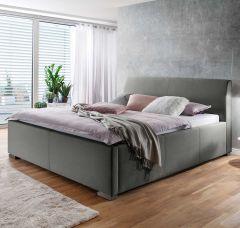 Gestoffeerd bed La Finca BK - 120x200 cm - Lichtgrijs