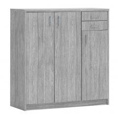 Kommode Spacio 3 Türen & 2 Schubladen H 110cm - Eiche grau