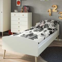Single bed GAIA - Single bed 90 x 200 cm - EXTRA WHITE