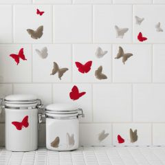 Aufkleber Elegante Schmetterlinge