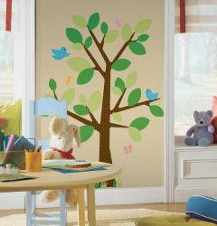 RoomMates Wandsticker - gepunkteter Baum